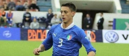 Antonio Barreca con la maglia dell'Under 21