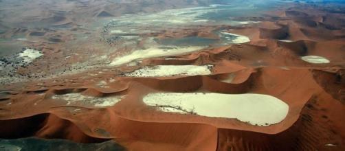 El Desierto de Namib,visto desde el aire