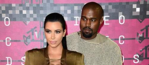 Kim posted first peek of Saint (Yahoo Images)