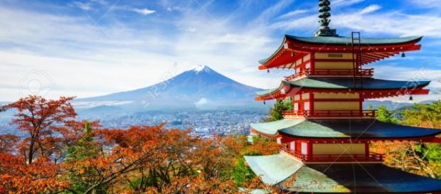 Foto panoramica del Monte Fuji in Giappone