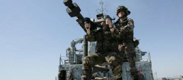 Fotografía de archivo de unos soldados