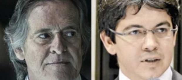 José de Abreu e senador - Foto/Montagem