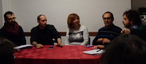 I relatori dell'incontro sulla bisessualità.