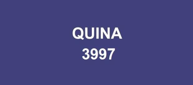 Dezenas do sorteio Quina 3997 foram anunciadas