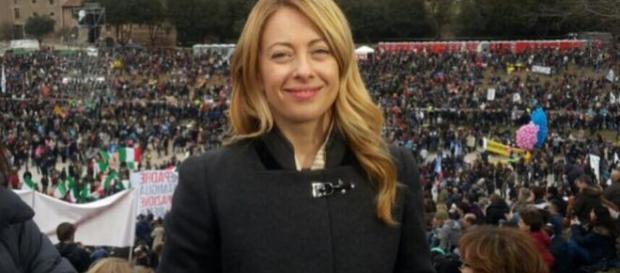 Giorgia Meloni durante il Family Day