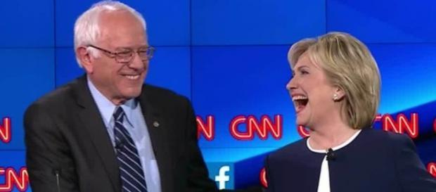 Os Democratas, Bernie Sanders e Hillary Clinton