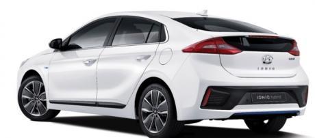 The 2017 Hyundai Ionig It's electric.