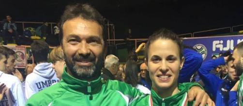 Il Maestro Marco Ruggieri con Elisabetta Prati