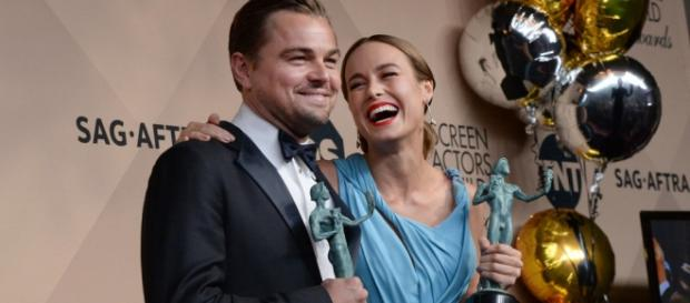 Leonardo DiCaprio y Brie Larson