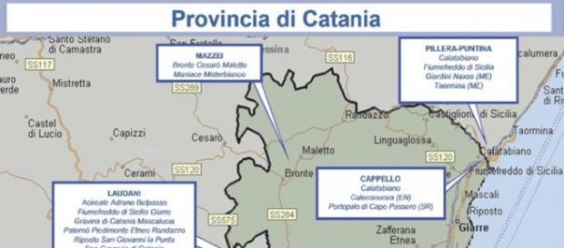 Mafia, mappa clan provincia di Catania