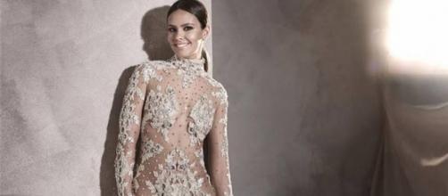 Cristina Pedroche con el vestido de Pronovias