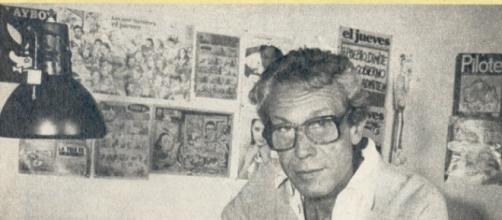 Joan Rafart 'Raf' en su estudio de trabajo.
