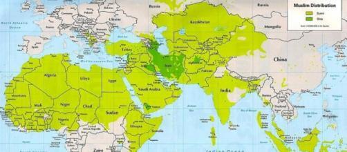 La distribuzione dei mussulmani nel mondo