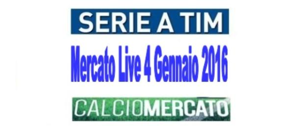 Calciomercato Live 4 gennaio 2016