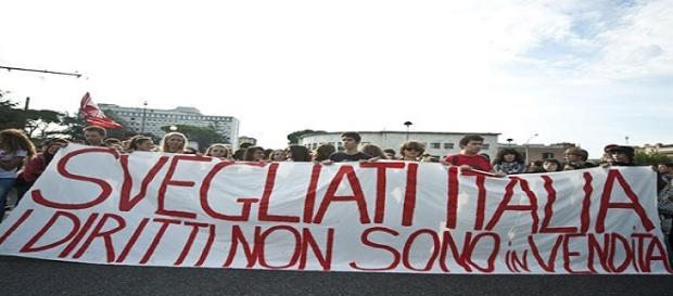 Manifestanti a favore dei diritti civili