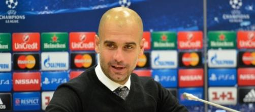 Guardiola, a former Barcelona coach (Wikipedia)
