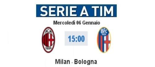 MIlan - Bologna in diretta live