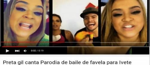 "Vídeo da Preta Gil 'tirando"" Ivete Sangalo"
