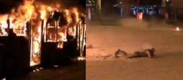 Un autobuz a luat foc. 14 oameni au murit