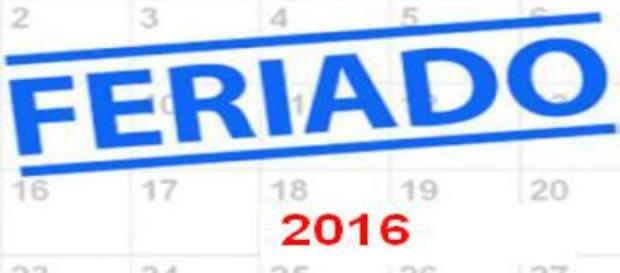 Veja em que dia da semana cairão os feriados
