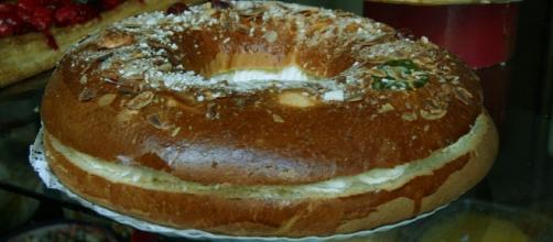 Típica Rosca de Reyes que se come en Argentina