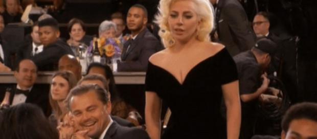 El empujón entre Leonardo DiCaprio y Lady Gaga