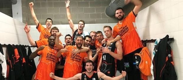 El Valencia Basket celebra una victoria
