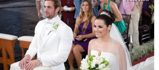 Maite Perroni e William Levy se casando na novela