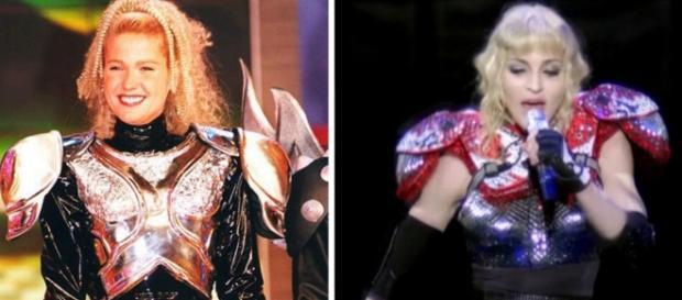 Xuxa e Madonna - Foto/Montagem
