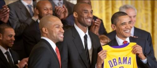 Kobe with his fan Obama (Wikipedia)