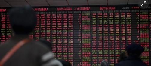 La borsa di Shanghai in ripresa.