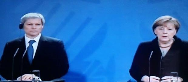 Conferinţă de presă Cioloş-Merkel. Foto Antena 3