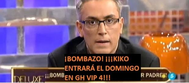 Kiko Hernández, nueva incorporación en GH VIP 4