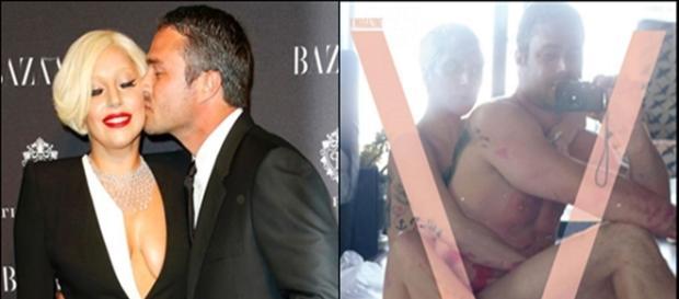 Lady Gaga e o noivo Taylor Kinny