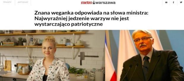 Minister W. Waszczykowski o wegetarianach