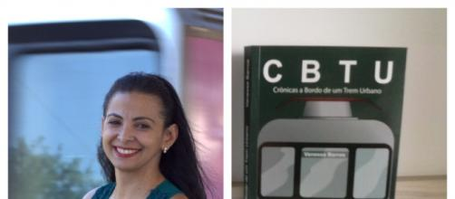 A escritora Vanessa Barros e o seu segundo livro.