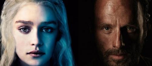 Daenerys Targaryen di GoT e Rick Grimes di TWD