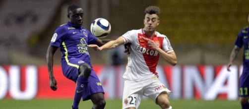 El Shaarawy in azione con la maglia del Monaco
