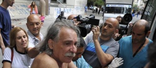 Represion en La Plata, balas de goma