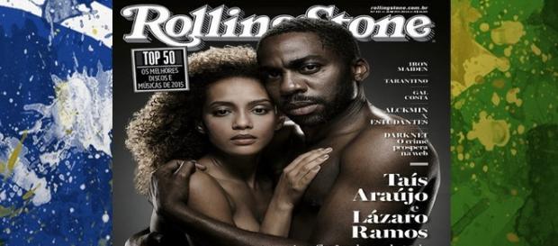 aís Araújo Lázaro Ramos nus capa da Rolling Stone
