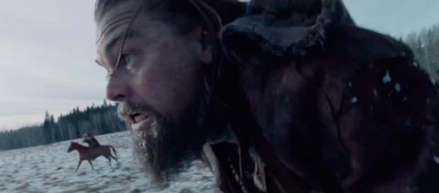 Leonardo DiCaprio en su papel de Hugh Glass