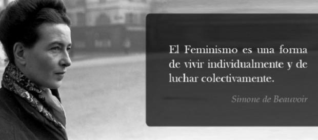 Simone de Beauvoir y una de sus inmortales frases.