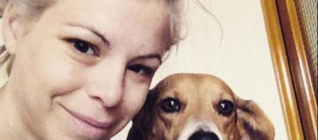 Un selfie di Ashley Olsen e il suo cane