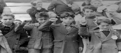 Los niños de la guerra. Public Domain