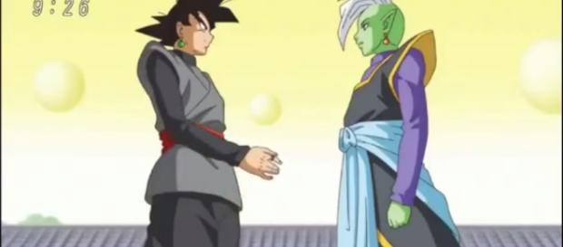 Black y Zamasu una imagen muy confusa.