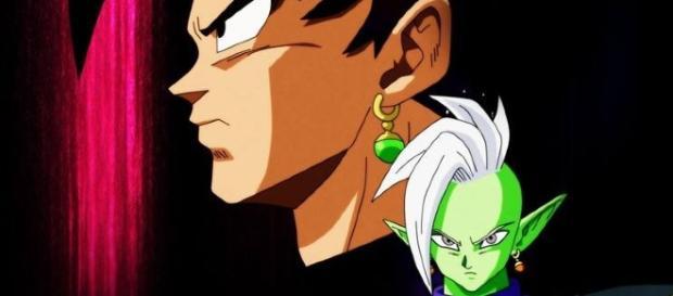 dragon ball super ( aparece zamasu con un solo arsillo pothala verde) PLANETA GOKU