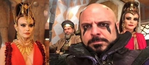Feiticeira Ravena e seu auxiliar Jordi do reino de Ai