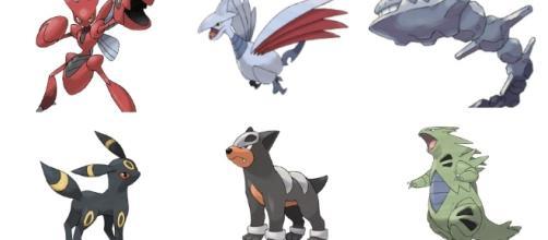 Los nuevos pokémon de tipo Acero y Siniestro.