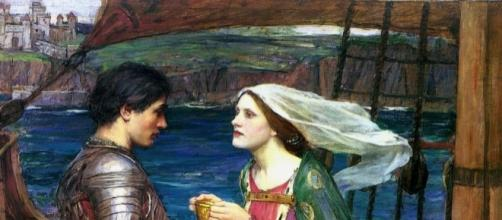 Tristano e Isotta con la Pozione, John William Waterhouse, 1916 ca.