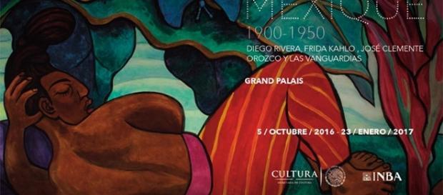"""Cartel exhibición """"México 1900-1950 Diego Rivera, Frida Kahlo, José Clemente Orozco y las vanguardias"""","""